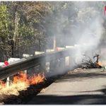 Bici da corsa elettrica: esplode la batteria e bici in fiamme